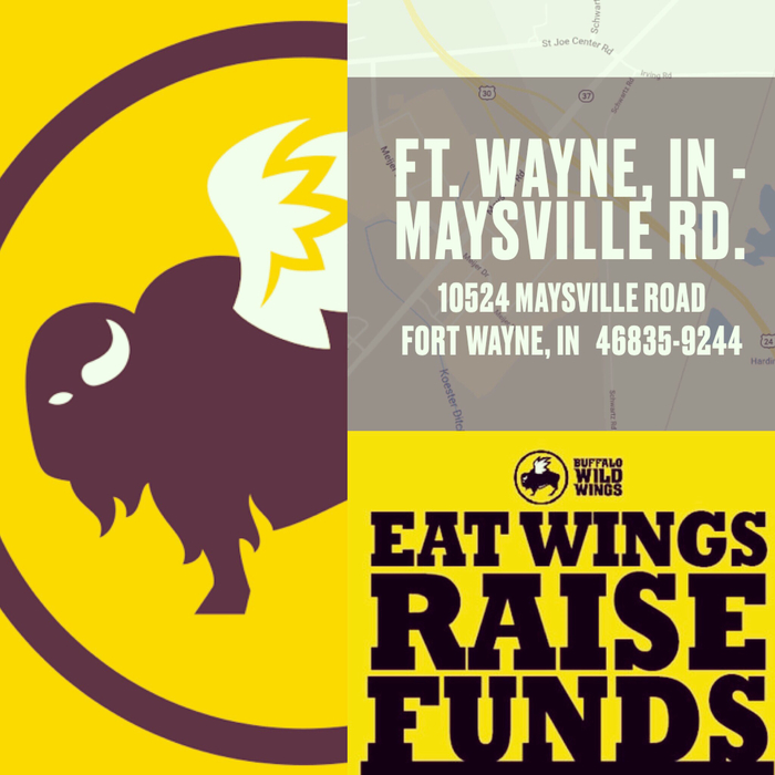 Visit Buffalo Wild Wings on Maysville Rd. Fort Wayne on Oct. 24 between 6-8pm to support Hicksville Initiative