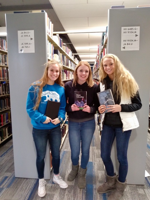 Students learned how to navigate a college library.