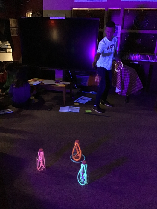 Glow Day ring toss.